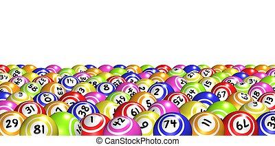 Bingo Background - Illustration of lots of Bingo balls