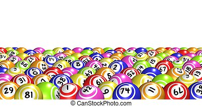 Illustration of lots of Bingo balls