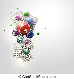 Bingo Balls and Cards Design Iluustration - Bingo Balls and ...