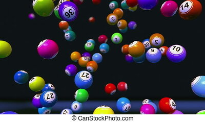 High quality bingo Balls Background