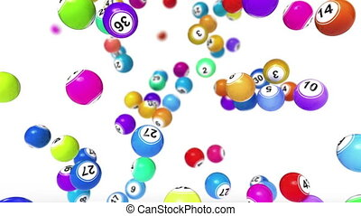 Bingo Balls Background