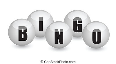 bingo balls illustration design concept