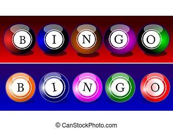 Bingo balls - Colorful billiard balls