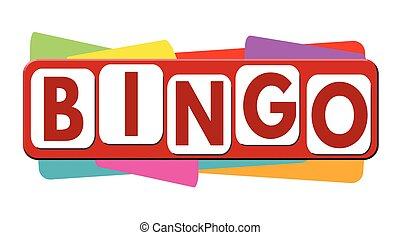 bingo, bandeira, ou, etiqueta