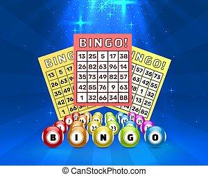 bingo, bolas, loteria, jogo, números