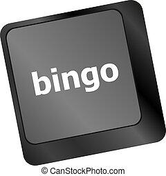 bingo button on computer keyboard keys