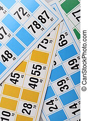 Bingo cards and numbers
