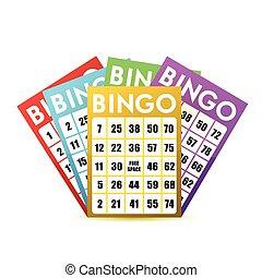 bingo cards illustration design