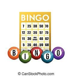 bingo concept illustration design