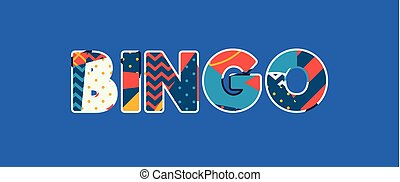 Bingo Concept Word Art Illustration