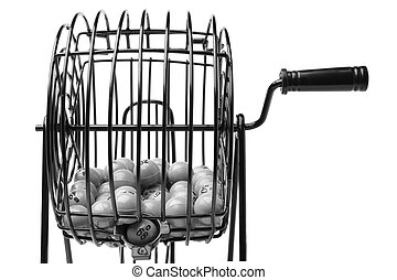 Bingo Game Cage isolated on white background
