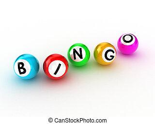 Illustration of balls for game in bingo