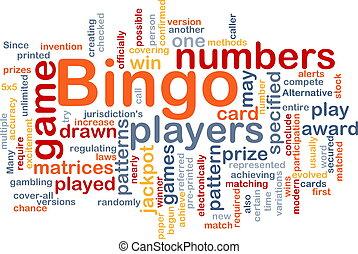 bingo, jogo, conceito, fundo