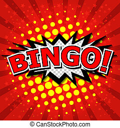 bingo!, komický, řeč, bubble.