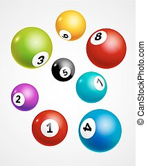 Bingo lottery balls numbers background. Lottery game balls....
