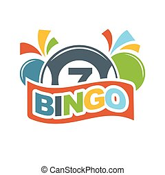 Bingo lottery lucky balls numbers of lotto win vector icon