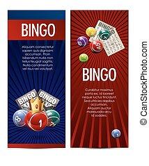 Bingo lotto lottery banners template.