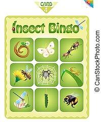 bingo, met, anders, insecten