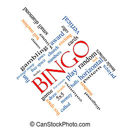 bingo, palabra, nube, concepto, angular