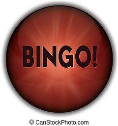 BINGO red button badge.