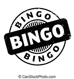 Bingo rubber stamp
