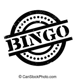 Bingo rubber stamp