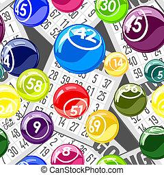 bingo, seamless, fondo