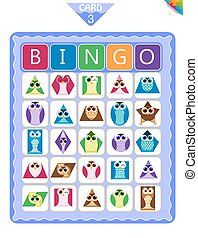 Bingo  shapes in the form of owls 3