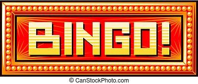 bingo sign vector illustration