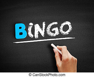 Bingo text on blackboard
