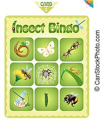 Bingo  with different insects