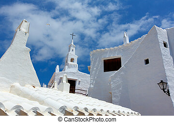 Binibequer Vell in Menorca Binibeca white village Sant Lluis...
