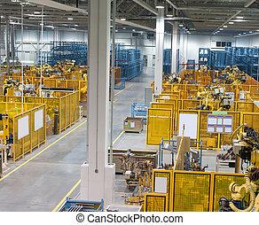 binnen, fabriek