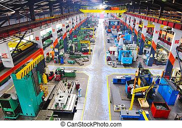 binnen, metaal, industy, fabriek