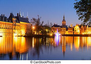 binnenhof, -, holland, parlament, hollandia