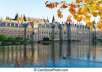 binnenhof, -, hollandse, parlement, holland