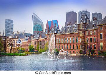 Binnenhof Palace - Dutch Parlament in the Hague (Den Haag)....