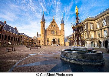 Binnenhof palace, place of dutch parliament in Hague (Den Haag), Holland, Netherlands
