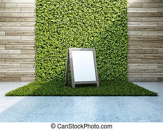 binnenplaats, innerlijke , verticaal, tuin