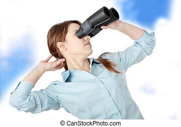 binoculaire, affaires femme