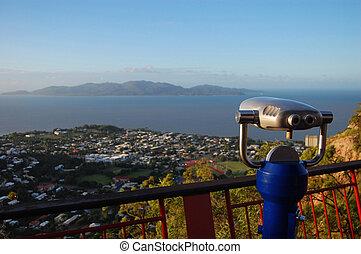 Binocular at lookout - Townsville Castle Hill lookout