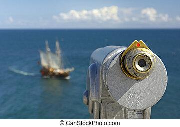Binocular at the coast
