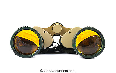 Binocular field glasses isolated
