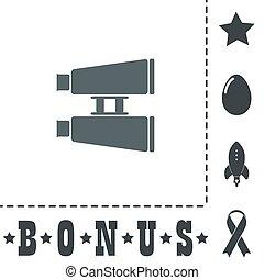 Binocular flat icon