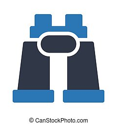 binocular  glyph color icon