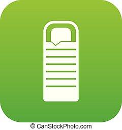 Binocular icon digital green