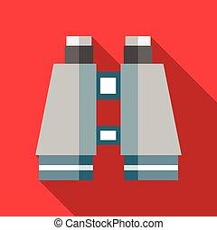 Binocular icon in flat style