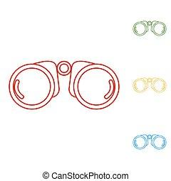 Binocular line icon vector illustration