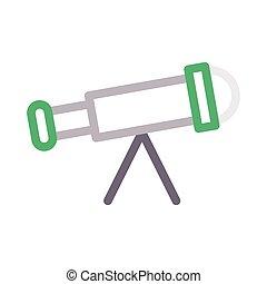 binocular thin color line vector icon