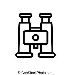 binocular  thin line icon